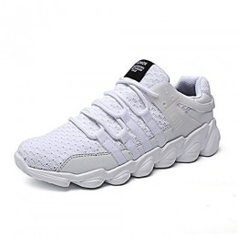 Wodun Mens Casual Breathable Fashion Sneaker Lace-ups Lightweight Athletic Sports Shoes-White46