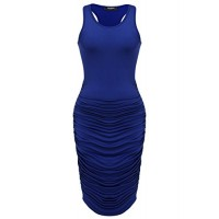Zeagoo Womens Sleeveless Bodycon Midi Plus Size Casual Dress